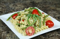 Bone Suckin' Asparagus Goat Cheese and Lemon Pasta Recipe