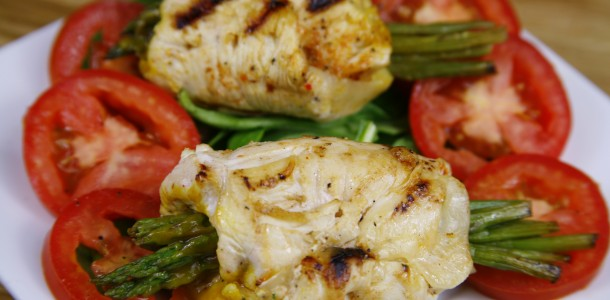 Bone Suckin' Chicken and Asparagus Rollups Recipe