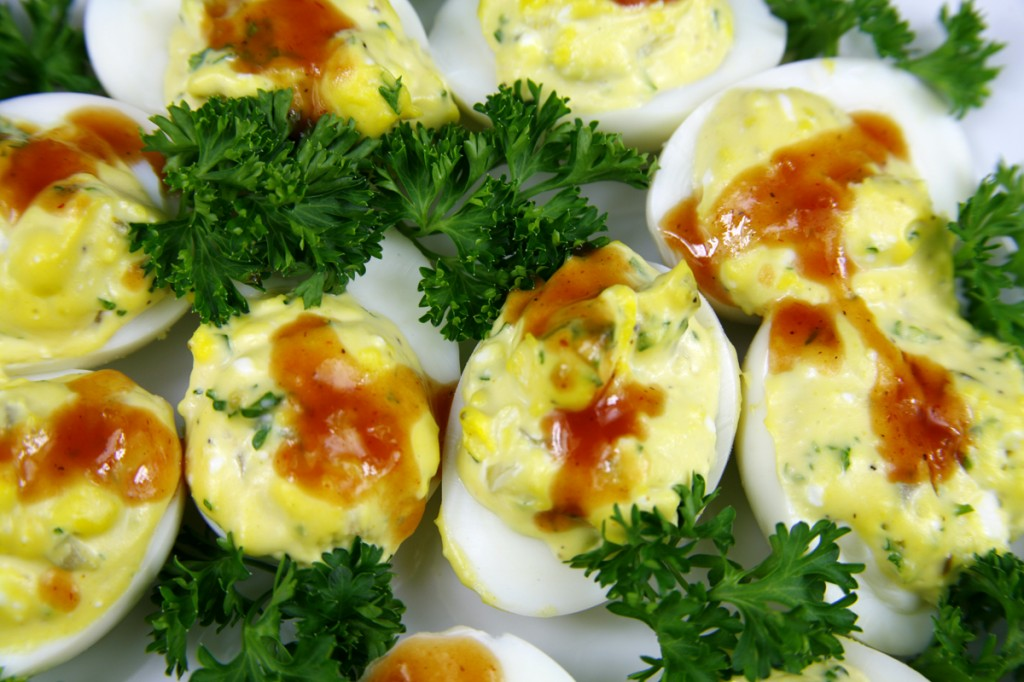 BBQ Deviled Eggs