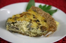 Bone Suckin' Mushroom and Fontina Quiche Recipe