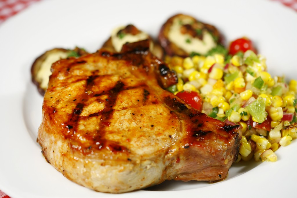 Bone SuckinR Glazed Grilled Pork Chops Recipe