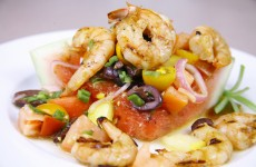Bone Suckin' Grilled Shrimp and Watermelon Salad Recipe