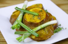 Bone Suckin' Mustard Sweet Potatoes Recipe