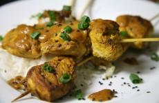 Bone Suckin' Chicken Skewers with Peanut Sauce Recipe