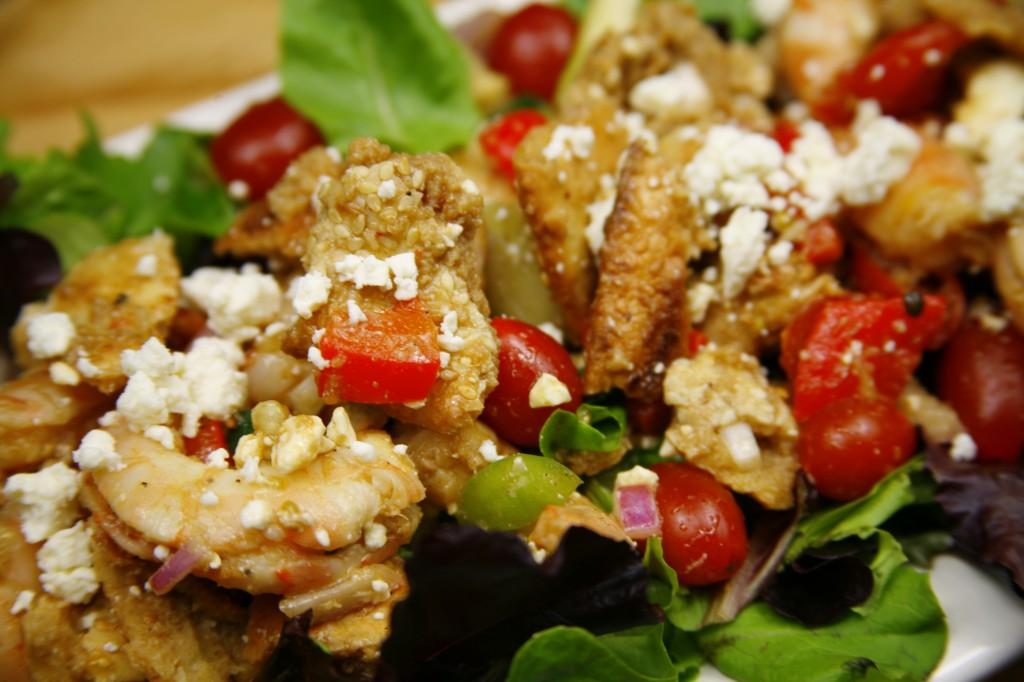 Bone Suckin'® Grilled Shrimp and Bread Salad Recipe