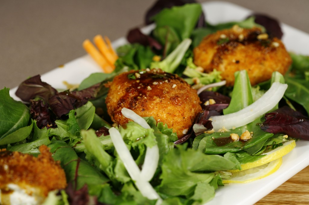 Bone Suckin'® Fried Goat Cheese Salad Recipe