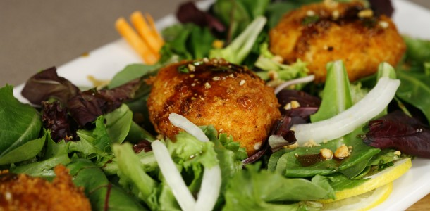 Bone Suckin' Fried Goat Cheese Salad Recipe
