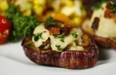 Bone Suckin' Hummus Stuffed Mushrooms Recipe
