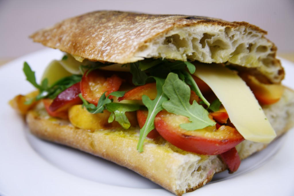 Bone Suckin' Peach and Nectarine Chutney Sandwich Recipe