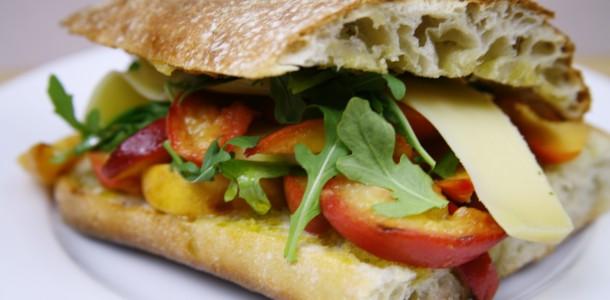Bone Suckin' Peach and Nectarine Chutney Sandwich Recipe