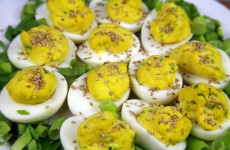 Bone Suckin' Spicy Deviled Eggs Recipe