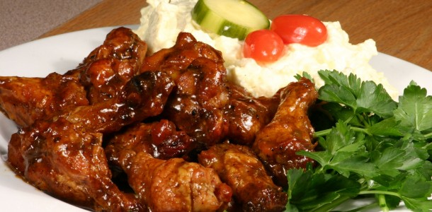 This Bone Suckin' Spicy Yaki Wings Recipe is delicious!