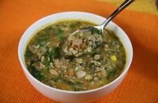 Bone Suckin' Turkey and Lentil Soup with Spinach Recipe