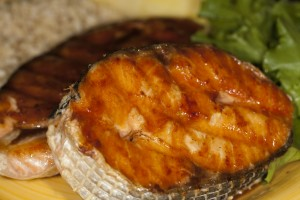 Bone Suckin'® Grilled Salmon Steaks Recipe