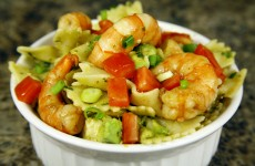 This Bone Suckin' Shrimp and Pasta Salad Recipe is a cool, summer treat.