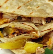 Bone Suckin' Grilled Chicken & Pineapple Quesadilla Recipe
