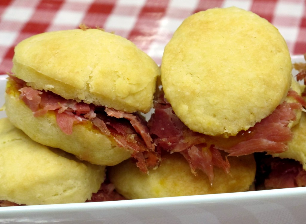 Cheddar Biscuits with Country Ham