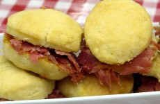 Bone Suckin' Cheddar Biscuits with Country Ham Recipe