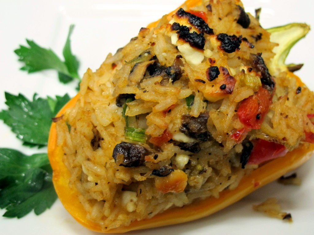 Bone Suckin' Vegetarian Stuffed Peppers Recipe