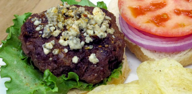 Picture a juicy burger with our Bone Suckin' Steak Seasoning and also our Bone Suckin' Yaki mixed in it topped by blue cheese and crisp lettuce,tomato and sliced red onion. This burger tastes better than it looks.