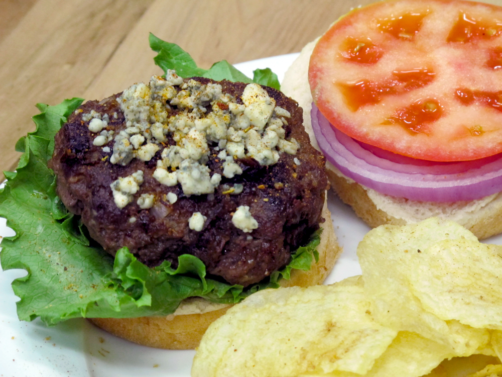 Bone Suckin' Hamburgers with Blue Cheese Recipe