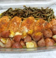 How does moist flavorful chicken along with seasoned green beans and potatoes sound? Not as good as it tastes!