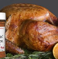 Bone Suckin' Cajun Seasoning & Rub in our brine recipe will produce a beautiful and tasty bird! bird