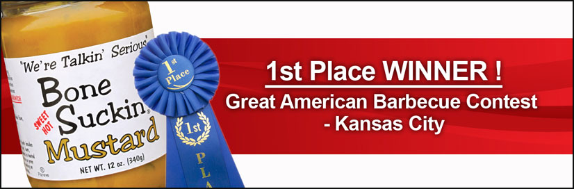 1st Place Winner!  Great American Barbecue Contest - Kansas City