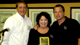 Exporter of the Year Award with Peter Thornton, Sandi Ford, Patrick Ford