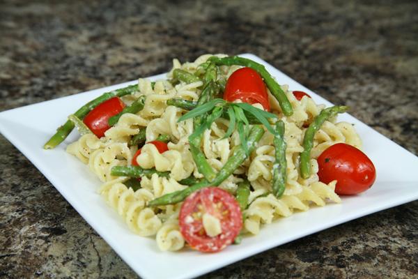 Bone Suckin'® Asparagus Goat Cheese and Lemon Pasta Recipe