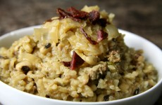 Bone Suckin' Dirty Hoppin John Risotto Recipe