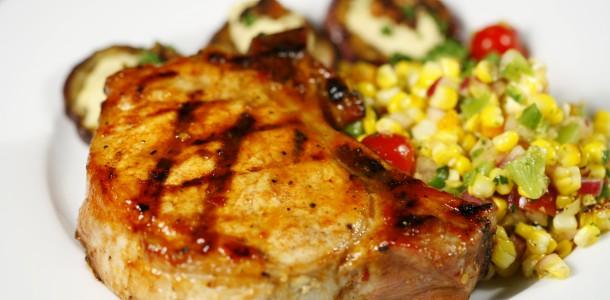 Bone Suckin' Glazed Grilled Pork Chops Recipe