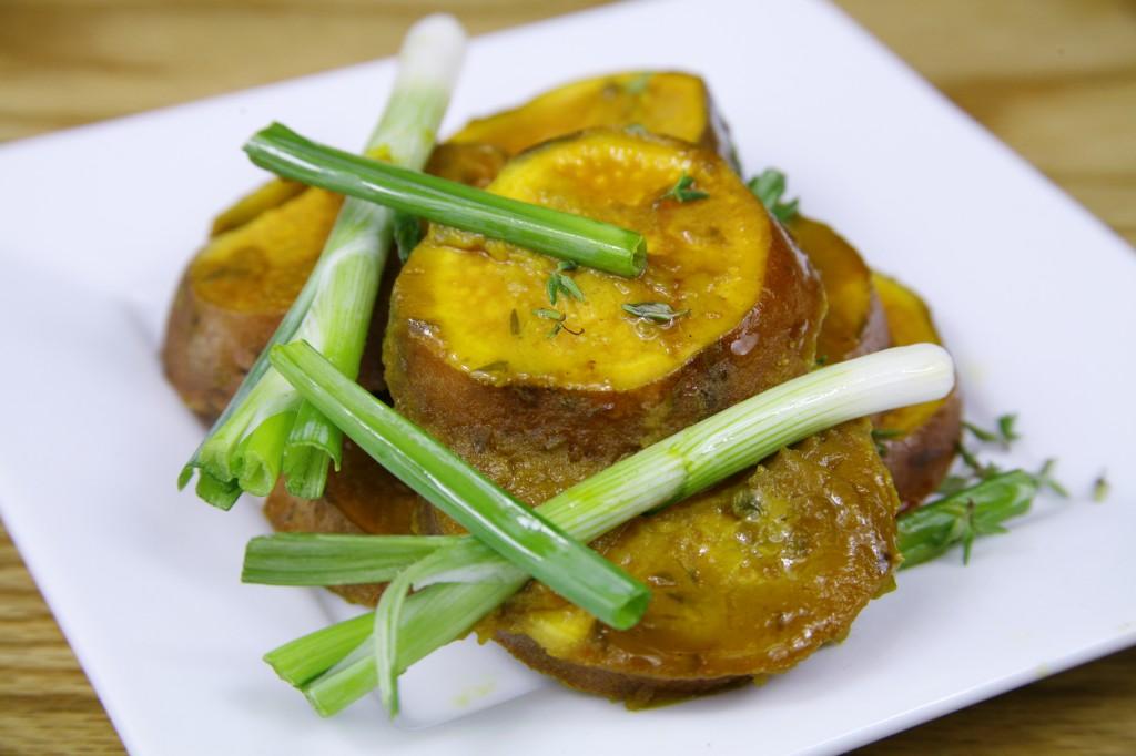Bone Suckin'® Mustard Sweet Potatoes Recipe
