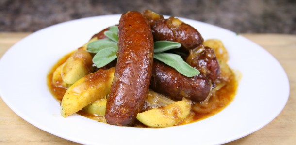 Bone Suckin' Sausage with Apples and Onions Recipe