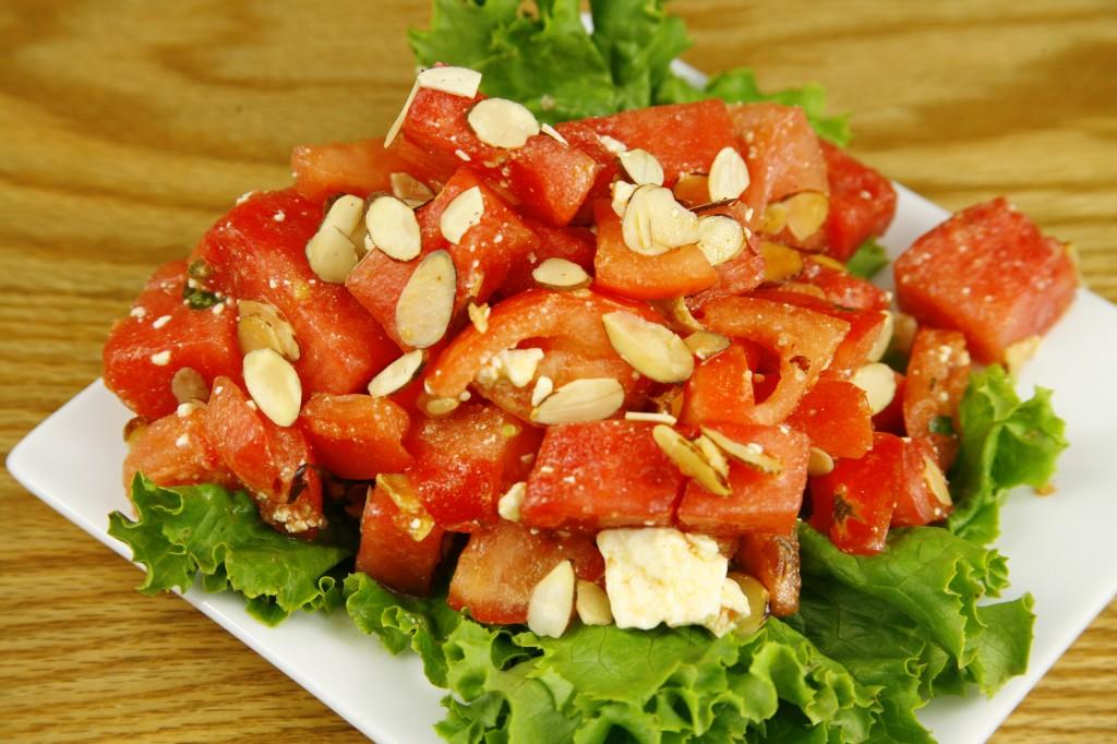 Bone Suckin'® Tomato Watermelon Feta Salad Recipe