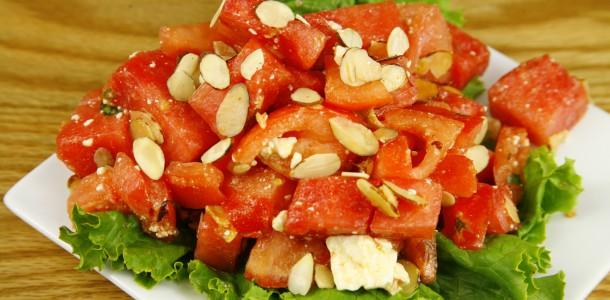 Bone Suckin' Tomato Watermelon Feta Salad Recipe