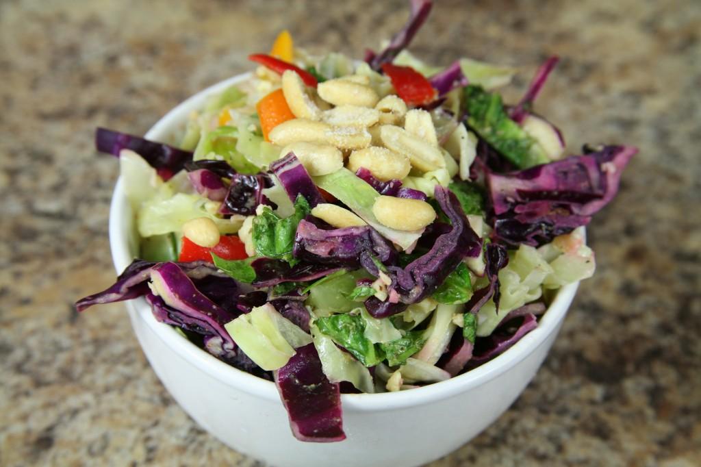 Bone Suckin'® Cabbage Lime Peanut Salad Recipe
