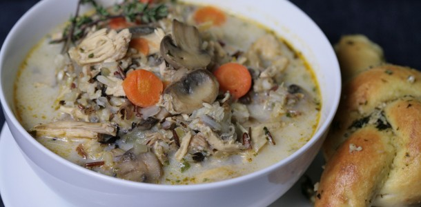 Try our Bone Suckin' Creamy Chicken and Rice Soup Recipe when you need a warm hug to make your day better.