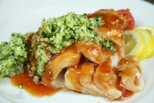 Bone Suckin'® Cod with Zucchini Salsa Verde Recipe