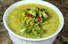 Bone Suckin' Corn Chowder with Guacamole Recipe