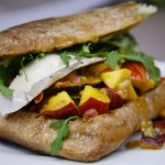 Bone Suckin' Grilled Brie Nectarine Panini Recipe