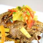 Bone Suckin' Chicken Yaki with Pineapple Pepper Relish Recipe