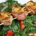 Bone Suckin' Prosciutto Wrapped Scallop Skewers Recipe