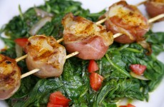 Bone Suckin' Prosciutto Wrapped Scallop Skewers Recipe