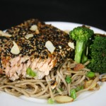 Bone Suckin' Sesame Salmon with Soba Noodles Recipe