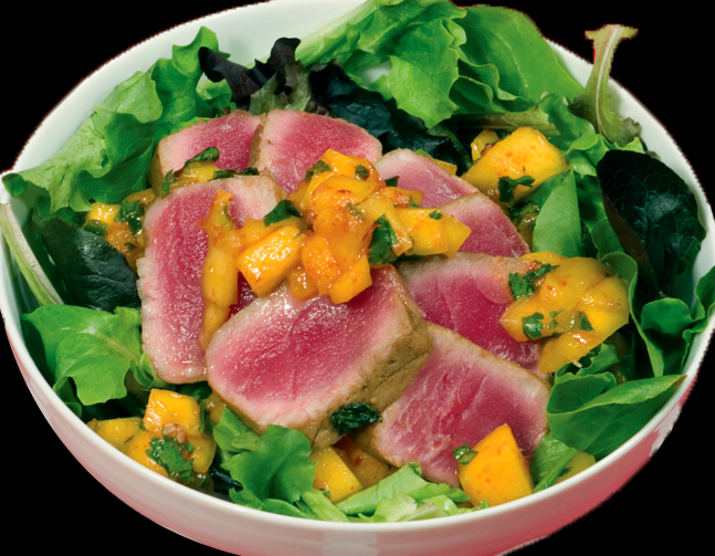 Bone Suckin'® Yaki Ahi Tuna with Mango Salsa Recipe