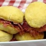 Bone Suckin' Cheddar Biscuits with Country Ham Recipe