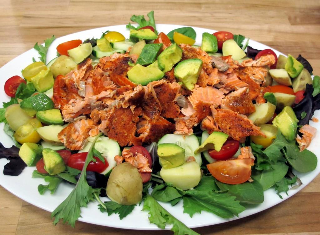 Bone Suckin' Salmon Salad Recipe