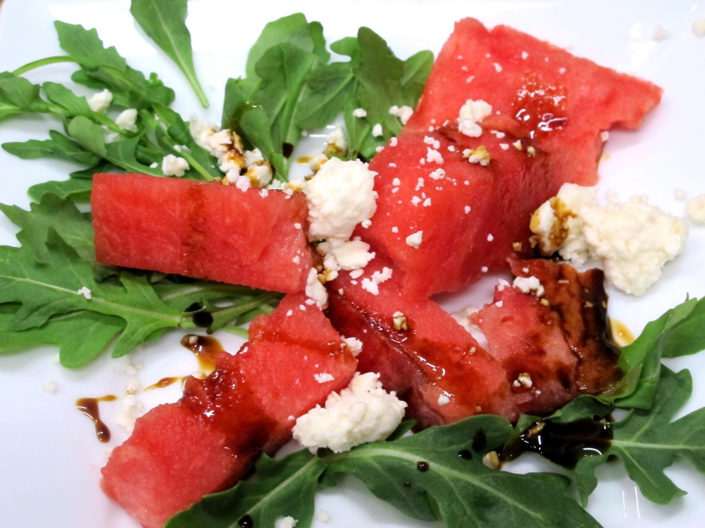Bone Suckin' Watermelon, Arugula & Feta Salad Recipe