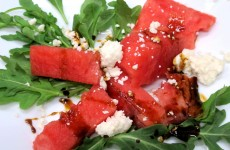Bone Suckin' Watermelon Arugula Feta Salad Recipe